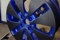 Порошковая покраска диска в два цвета