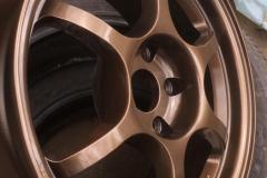 Порошковая покраска диска в медь